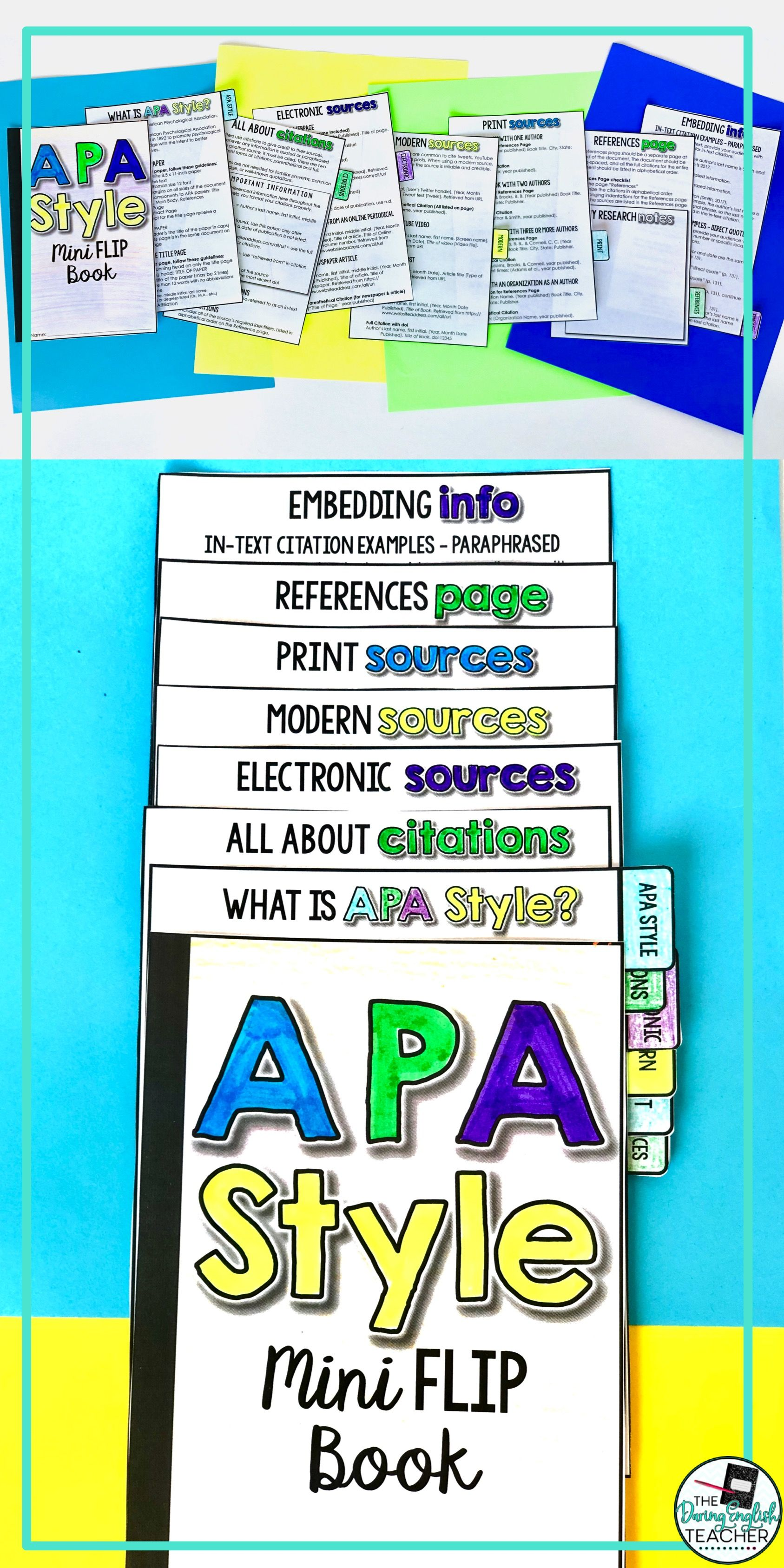 Apa Style 6th Edition Mini Flip Book How To In Text Cite A Website With No Author Or Date
