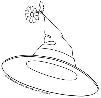 Dulemba Coloring Page Tuesday Witch Hat Witch Hat Coloring Pages Halloween Witch Hat