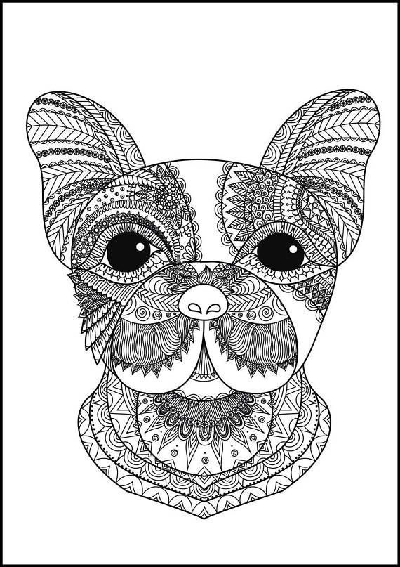 Coloring Sheet Art Therapy Animal Coloring Doodle Custom Doodle Doodling Creative Coloring Pdf Color Dog Coloring Book Dog Coloring Page Animal Coloring Pages