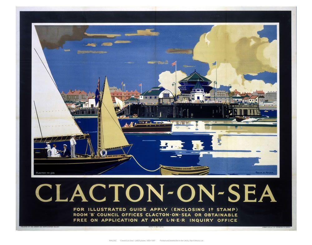 Railway Posters -  Clacton-on-Sea Art Print