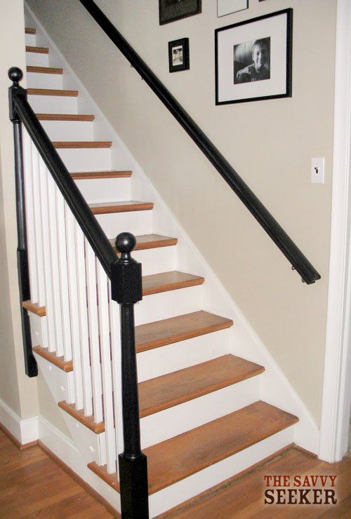 Black Painted Banisters Painted Stairs Black Stairs