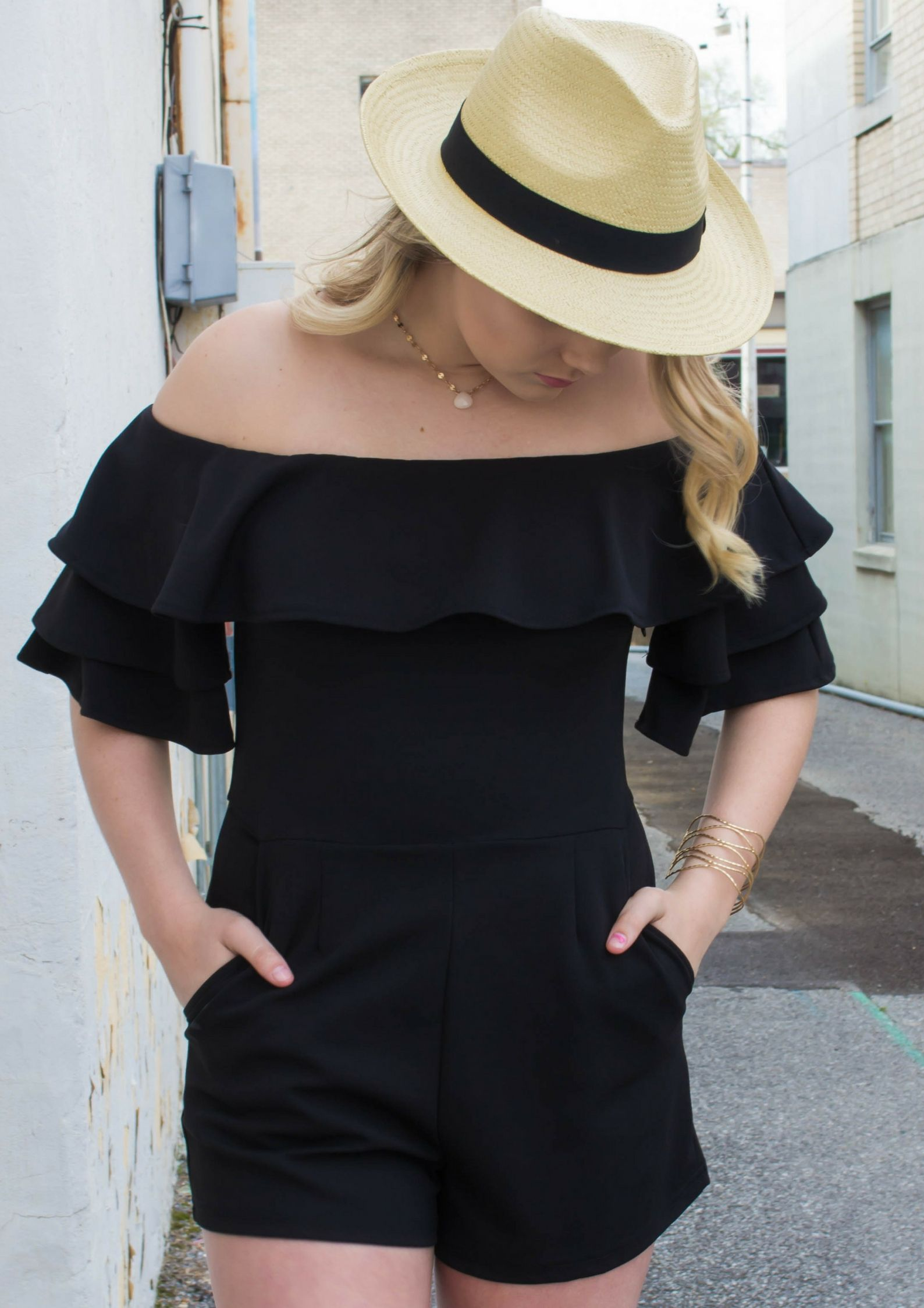 6b2fa313ab35 2 Rompers For Graduation  fashion  style  romper  outfit  black