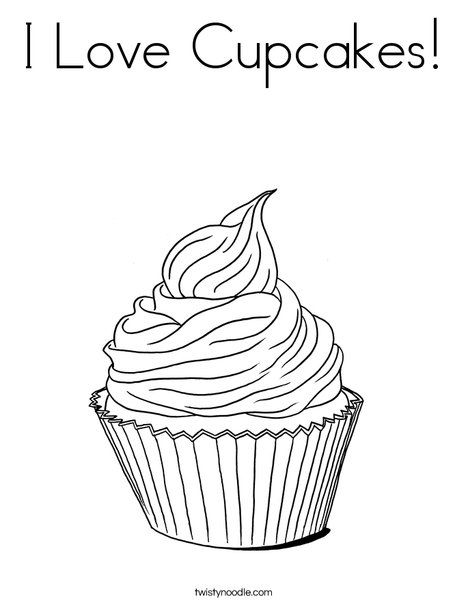 Cool Coloring Pages Of Cupcakes