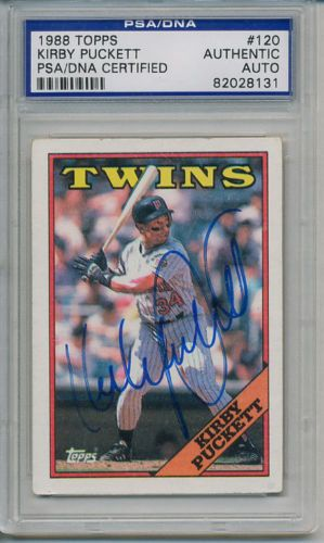 KIRBY-PUCKETT-SIGNED-AUTOGRAPHED-PSA-DNA-CARD-AUTO #kirbypuckett #puckett #signedcard #autograph