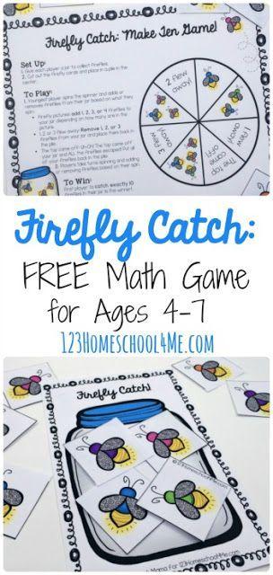 FREE Firefly Math Games to help Preschool, Kindergarten, 1st grade ...