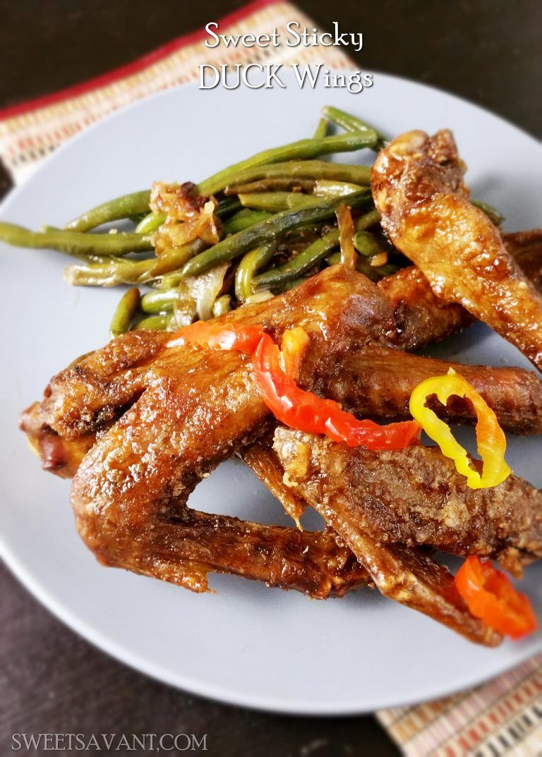 Crispy duck wings with sweet sticky glaze sweetsavant americas crispy duck wings with sweet sticky glaze sweetsavant americas best food blog forumfinder Image collections