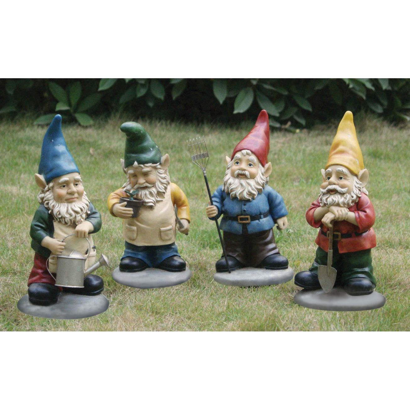 Assorted Garden Gnomes - Set of 4 - Lawn Ornaments - Ace Hardware ...