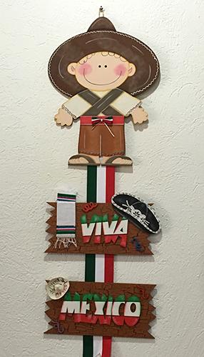 15 de septiembre colgante de mexicanito para decorar en for Puertas decoradas 16 de septiembre