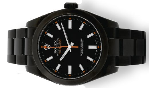 Rolex Milgauss covered by PVD. Orlando Bloom got one.