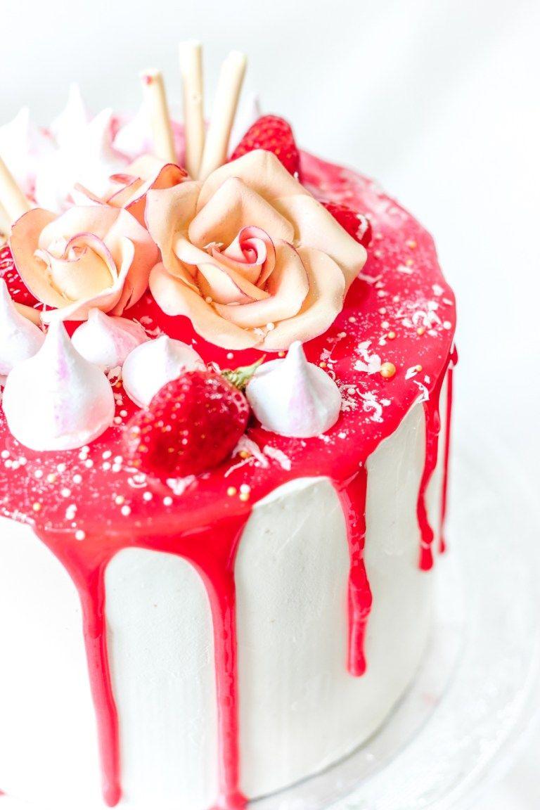 Layer Cake Vanille Fraise Recette Idee Patisserie Gateaux