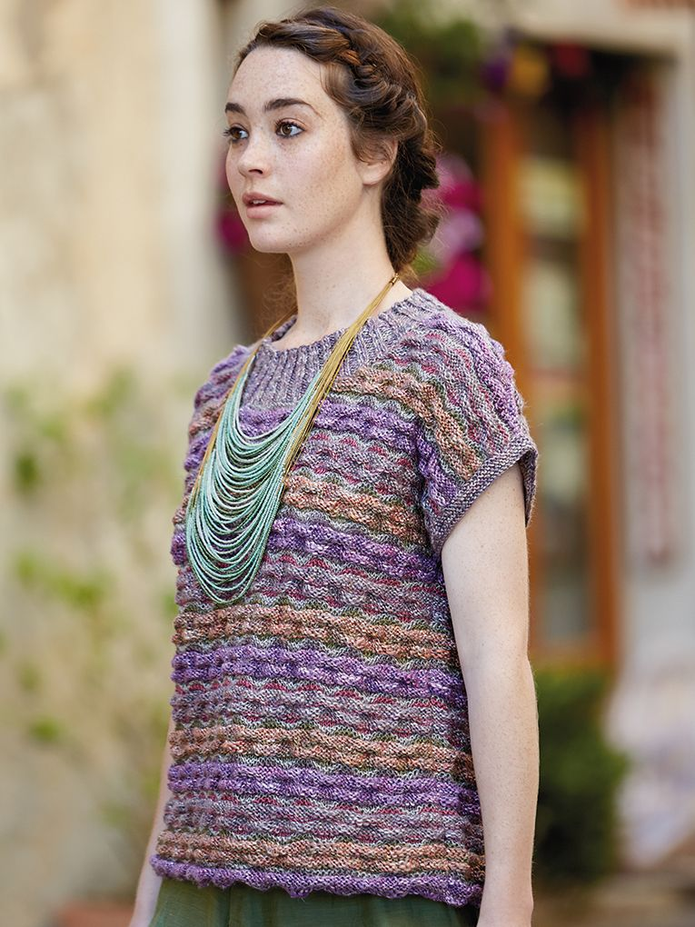 Poppi Knit This Womans Multi Coloured Top From Rowan Knitting