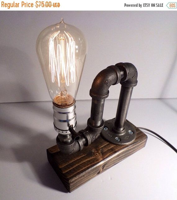 on sale industrial pipe light lamp unique table light table lamp light - Unique Table Lamps
