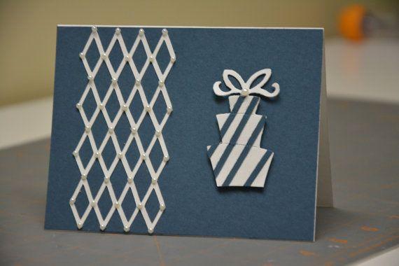 Elegant Birthday Card with Pearls by SpreadTheJoyCrafts on Etsy, $4.00