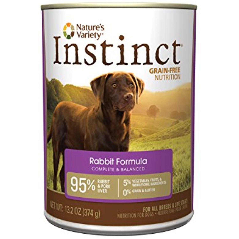 Instinct grain free rabbit formula natural wet canned dog