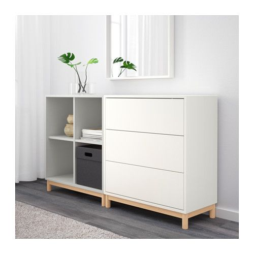 eket schrankkombination untergestell wei hellgrau ikea eket furniture companies and bedrooms. Black Bedroom Furniture Sets. Home Design Ideas