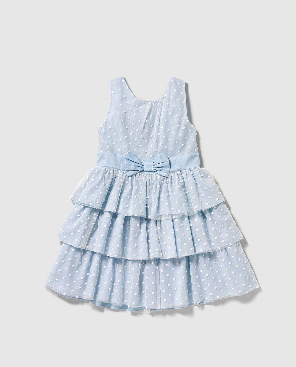 166743166 Vestido de niña Tizzas en tul azul | luuuu | Vestidos, Vestidos para ...