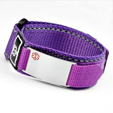 Kids Medical Alert Bracelet Purple Can I Fit This