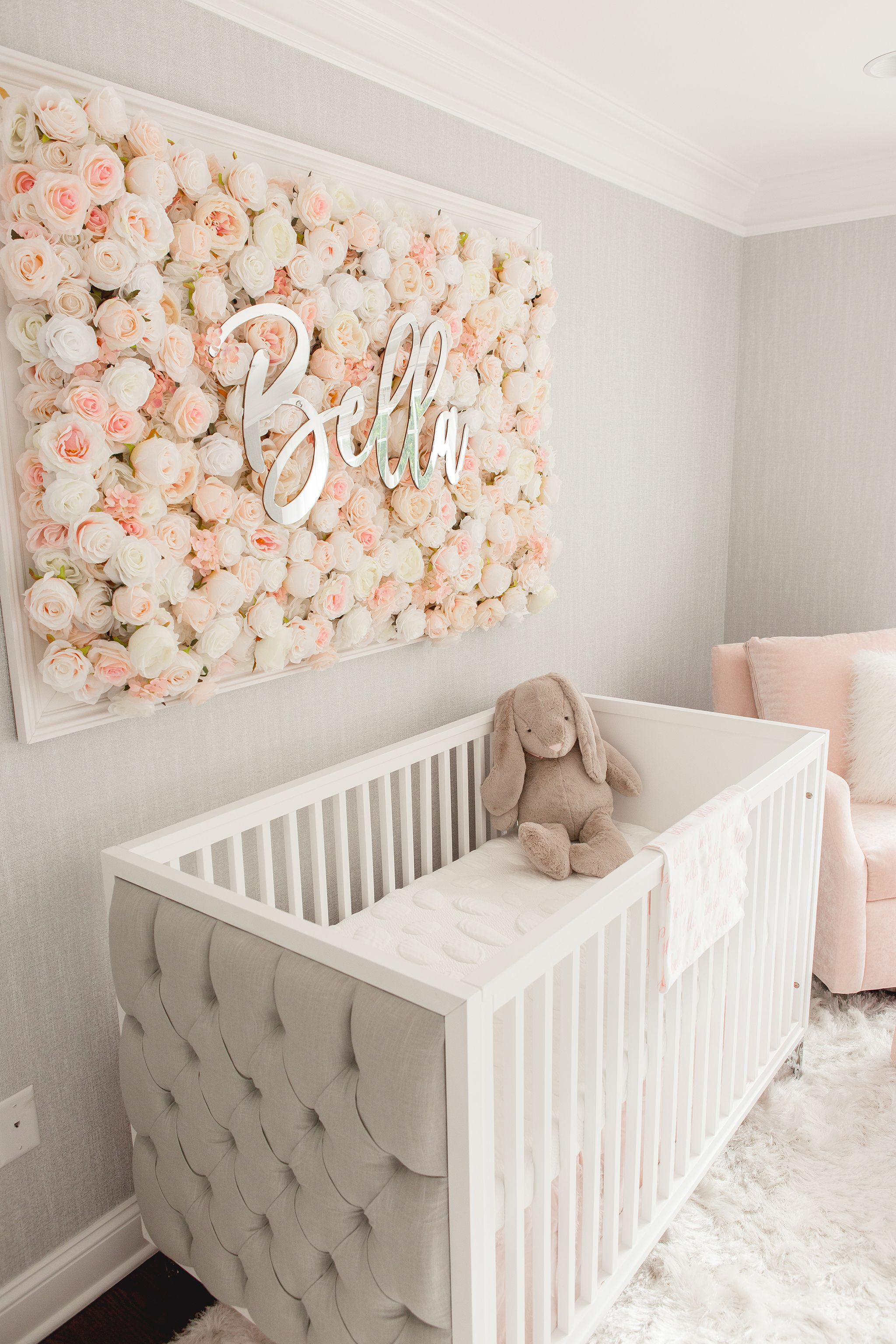 Guess Which Celebrity Nursery Inspired This Gorgeous Space Project Nursery Baby Nursery Inspiration Baby Girl Nursery Room Girl Nursery Room