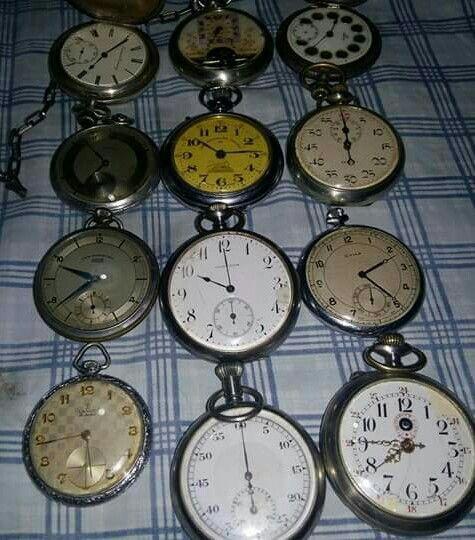 Relógios de bolso de difetentes épocas