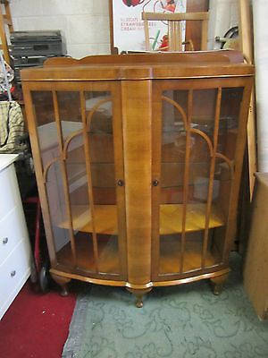Beautiful vintage glass display cabinet 1950's #great #condition local #delivery,  View more on the LINK: http://www.zeppy.io/product/gb/2/201461318514/
