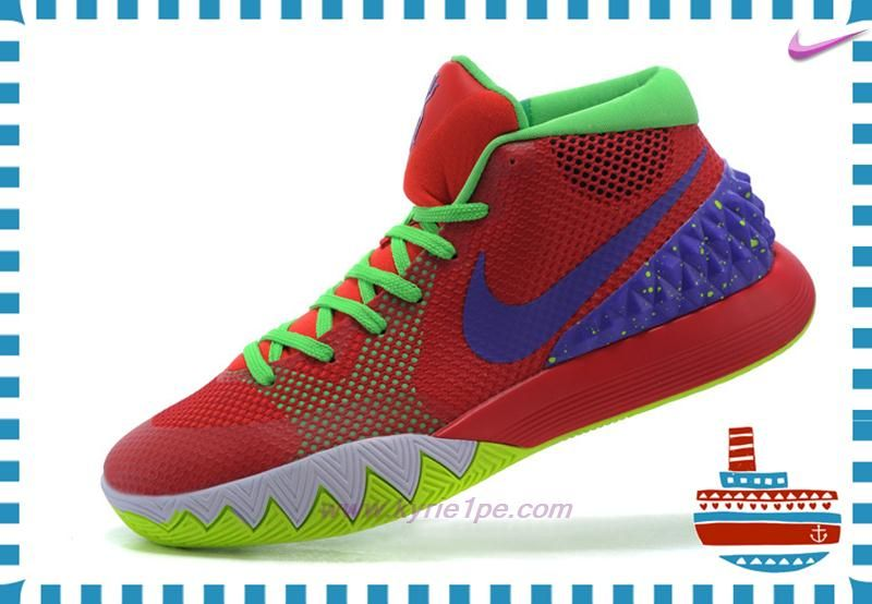 Very Cheap Red/Fluorescent Green/Purple Nike Kyrie 1 Mens