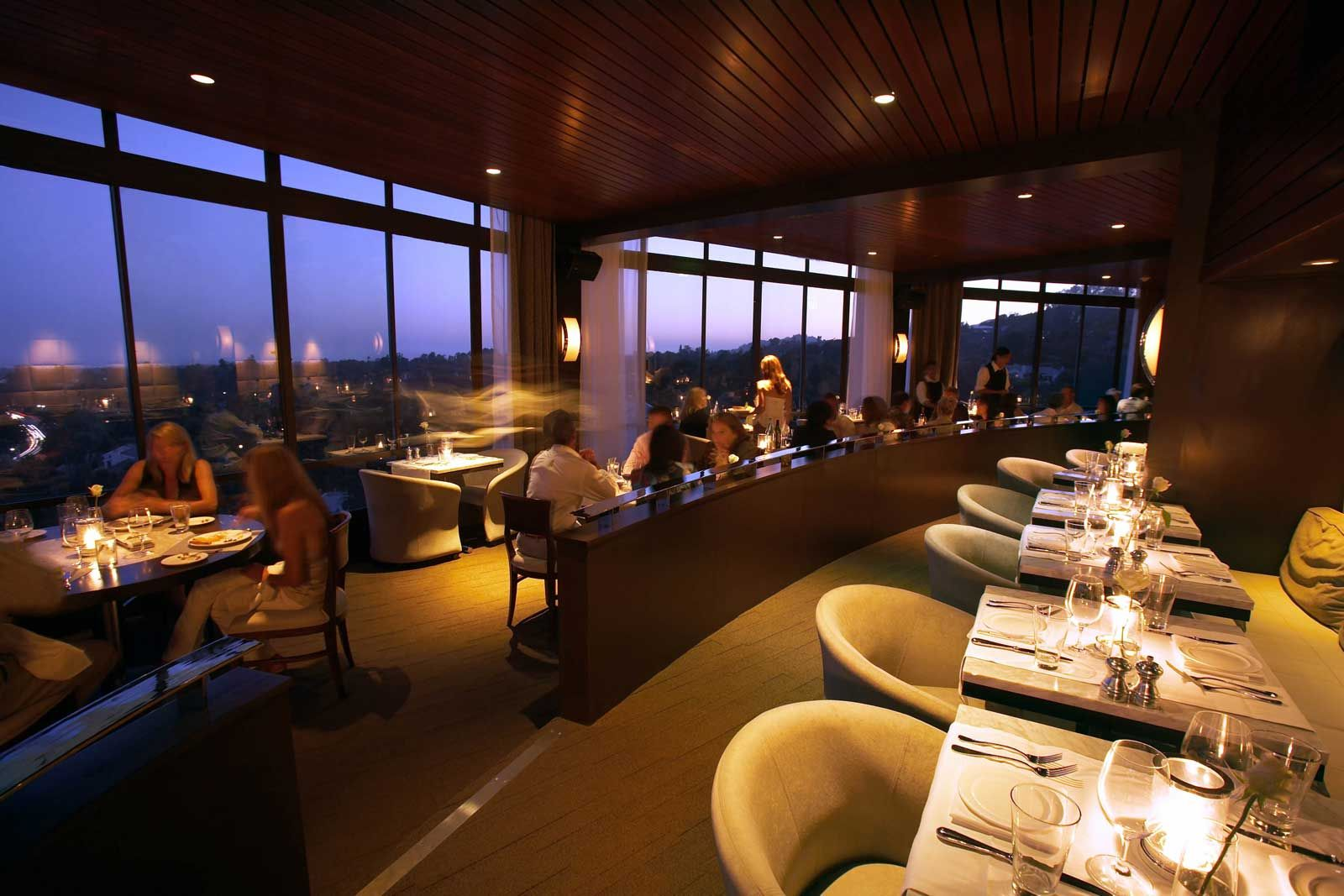 West Restaurant Located On The Top Floor Of The Hotel Angeleno Offers Stunning Panoramic Views Of La Hotel Hotel Restaurant Best Rooftop Bars