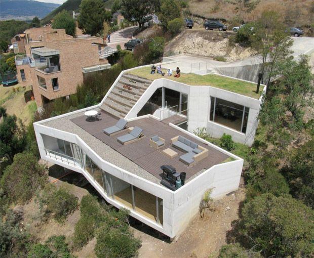 Maison avec terrasse sur le toit architecture for Maison avec terrasse sur le toit