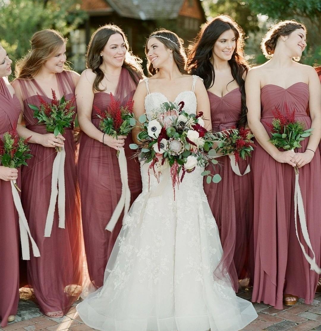 7 bridesmaid dress colours for autumn wedding