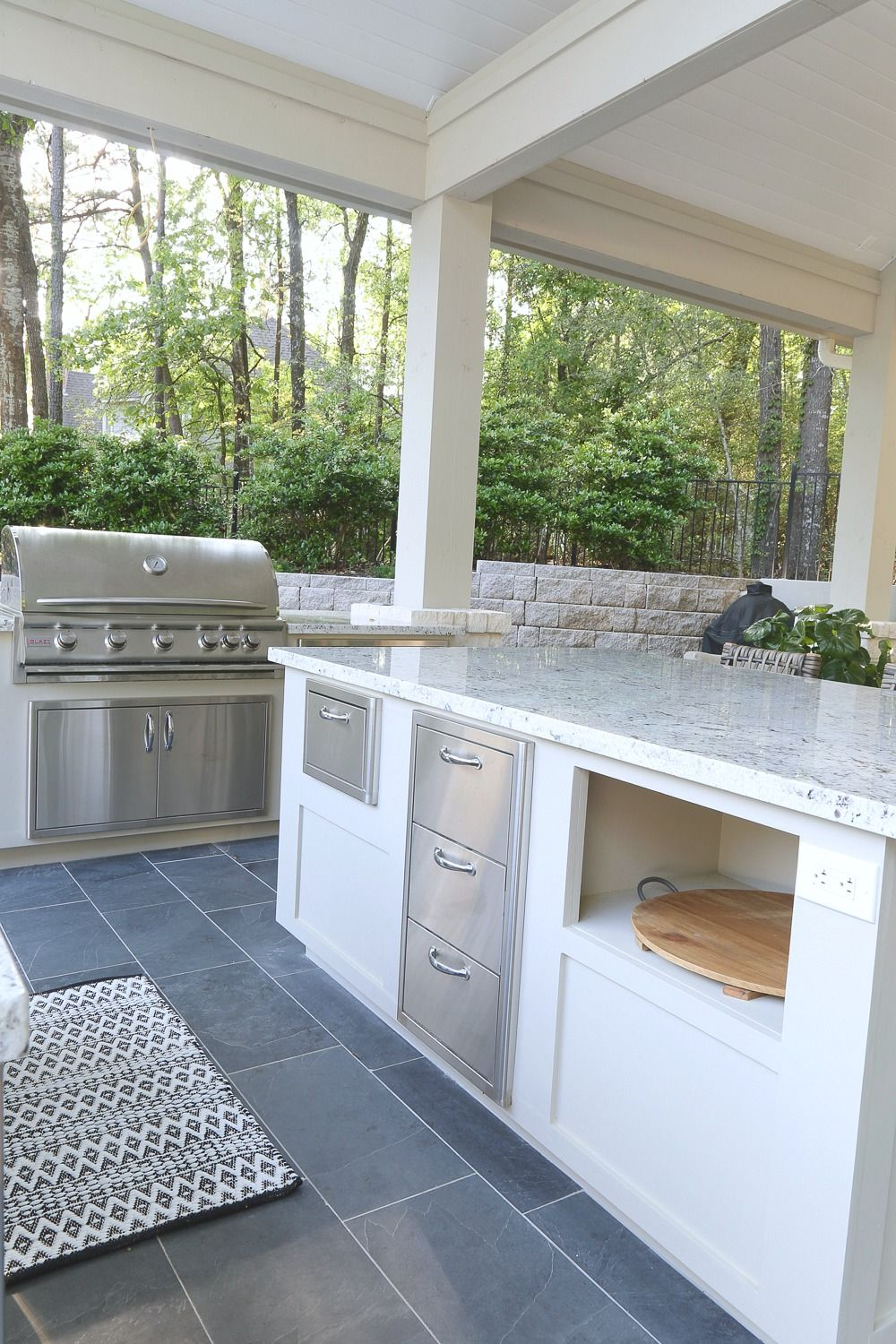 Outdoor kitchen and pool house project reveal outdoors pinterest