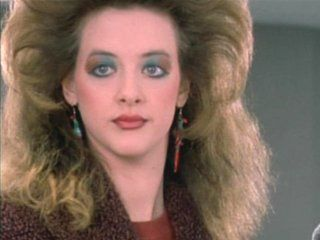 Joan Cusack in 80's hairdo (Working Girl 1988)