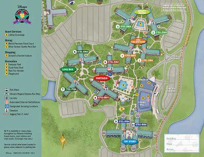 Disneyu0027s All Star Movies Resort Map #disneyworld