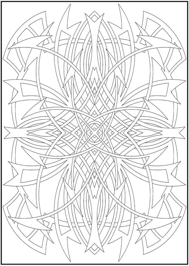 Creative Haven Abstract Designs Coloring Book Welcome to Dover ...