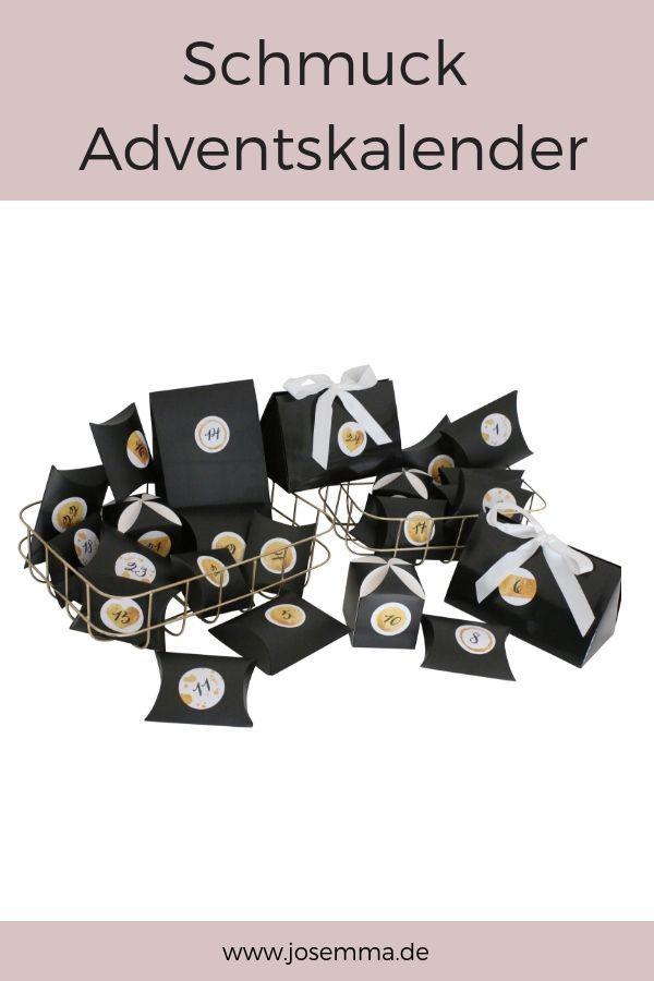Der Schmuck Adventskalender gefüllt mit Schmuckstücken. Für dich oder deine F…