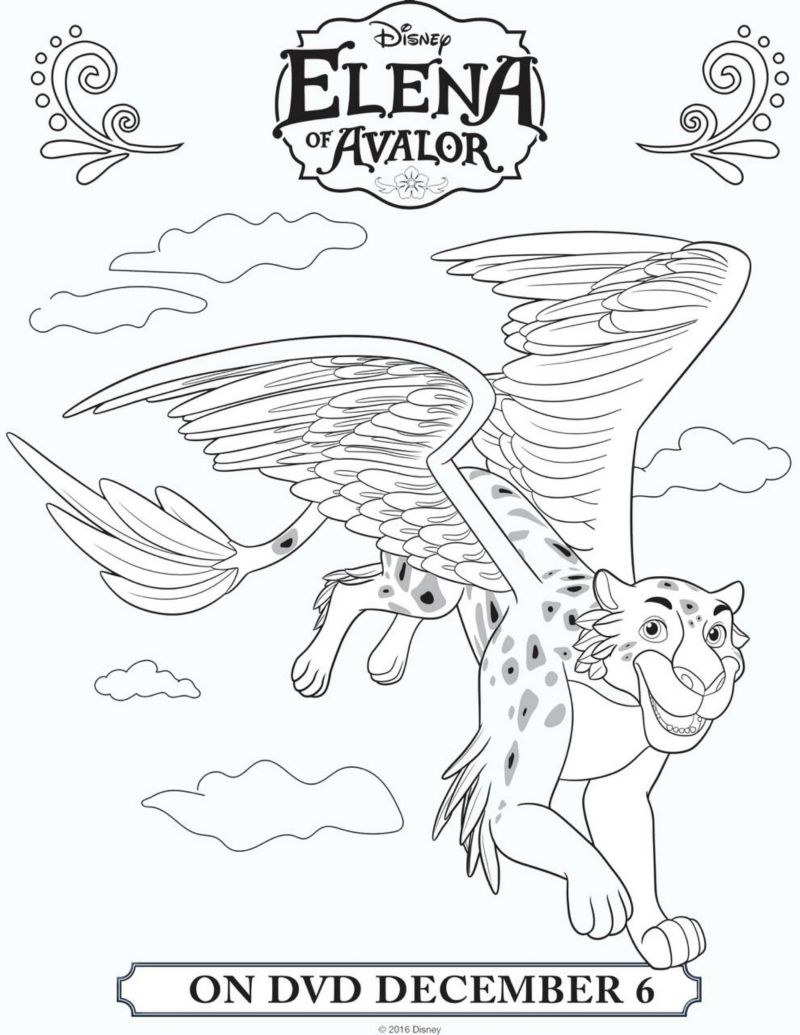 Disney Elena of Avalor Coloring Page | hatea | Pinterest | Elena de ...