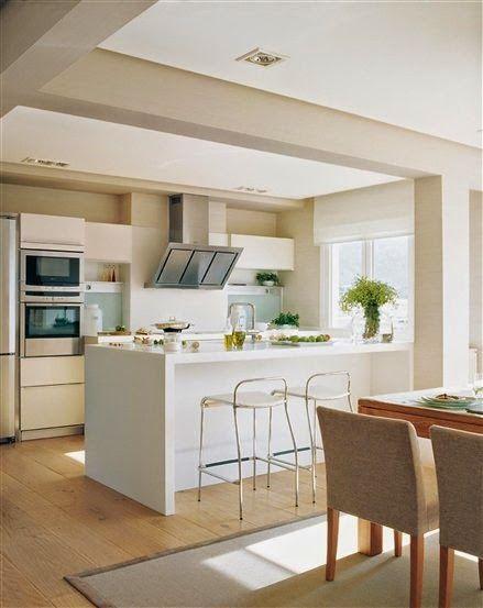 Cocinas con isla Flats \ Flats La maison Pinterest Kitchens - cocinas con isla