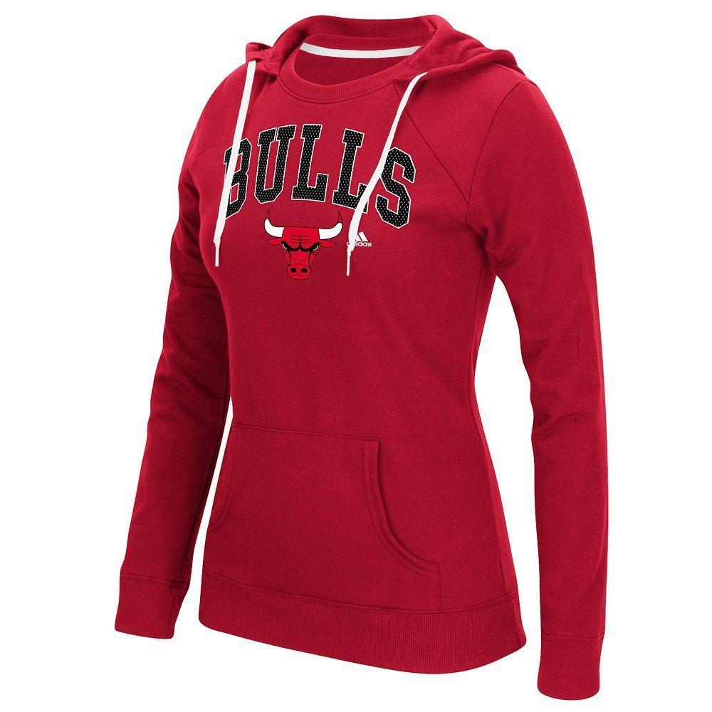 2b4599ca3eb Women s Adidas Chicago Bulls Outline Big Arch Hoodie