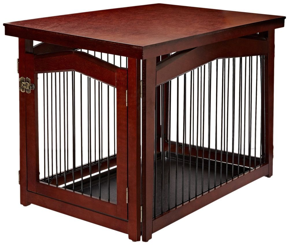 designer dog crate furniture ruffhaus luxury wooden. Pet Crate Cage Wooden Brown Secure Dog Resting Complement Your Decor Top Surface Designer Furniture Ruffhaus Luxury S