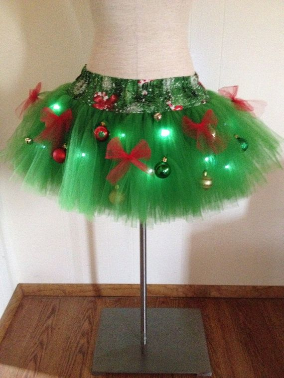 Adult Large Christmas Tree Decorated Tutu With By