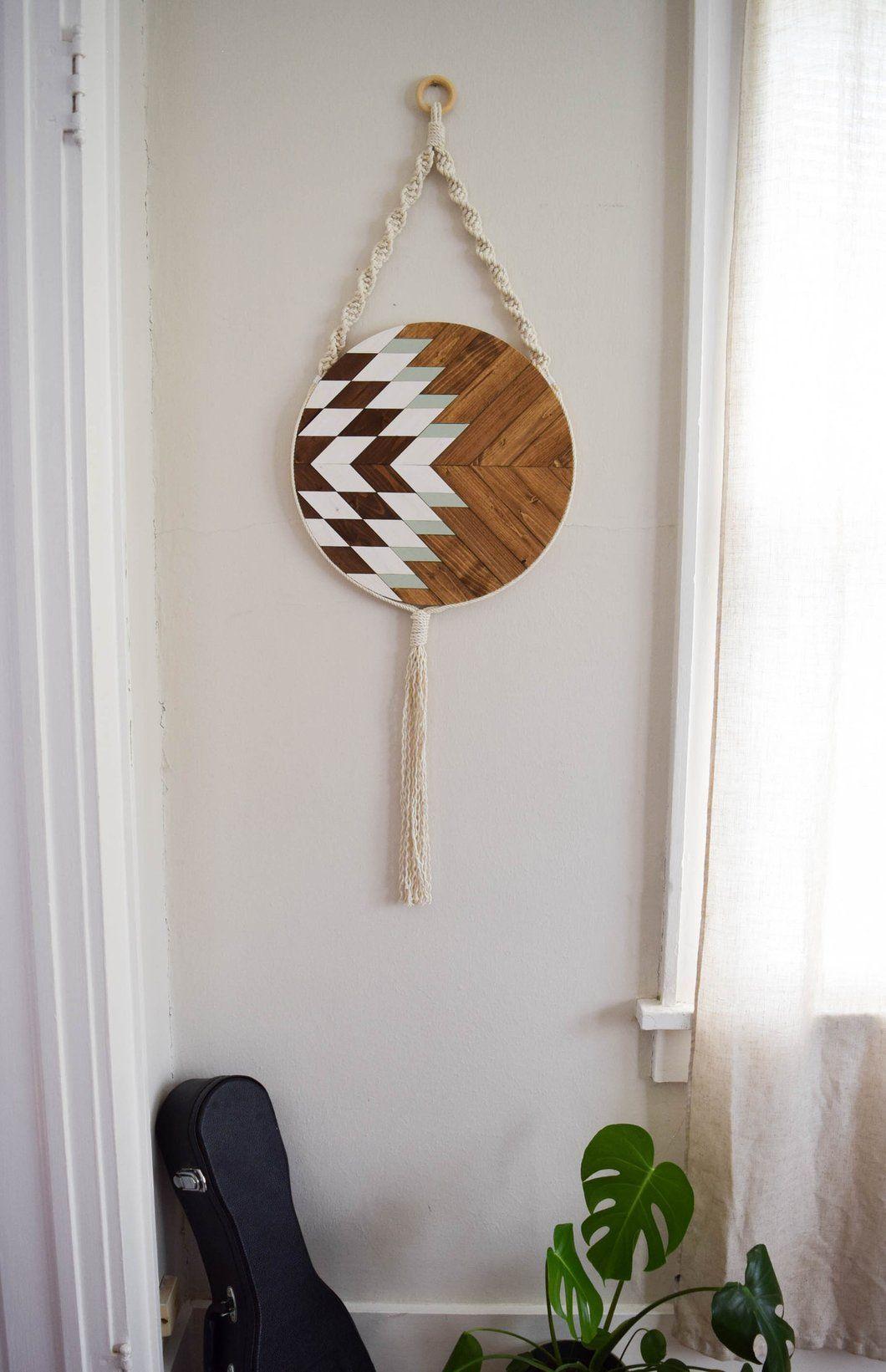 Elara round macrame wood wall art hanging декор pinterest