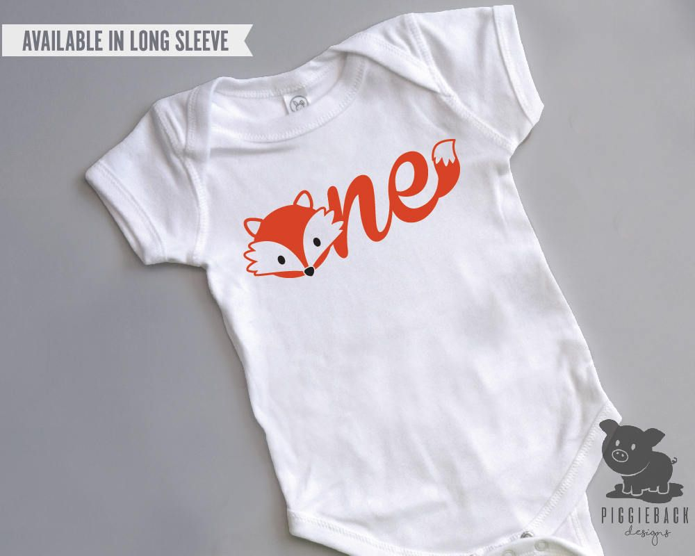 Fox Birthday Shirt First Birthday Boy Fox Onesie Fox Birthday Onesie Fox Shirt Fox Birthday