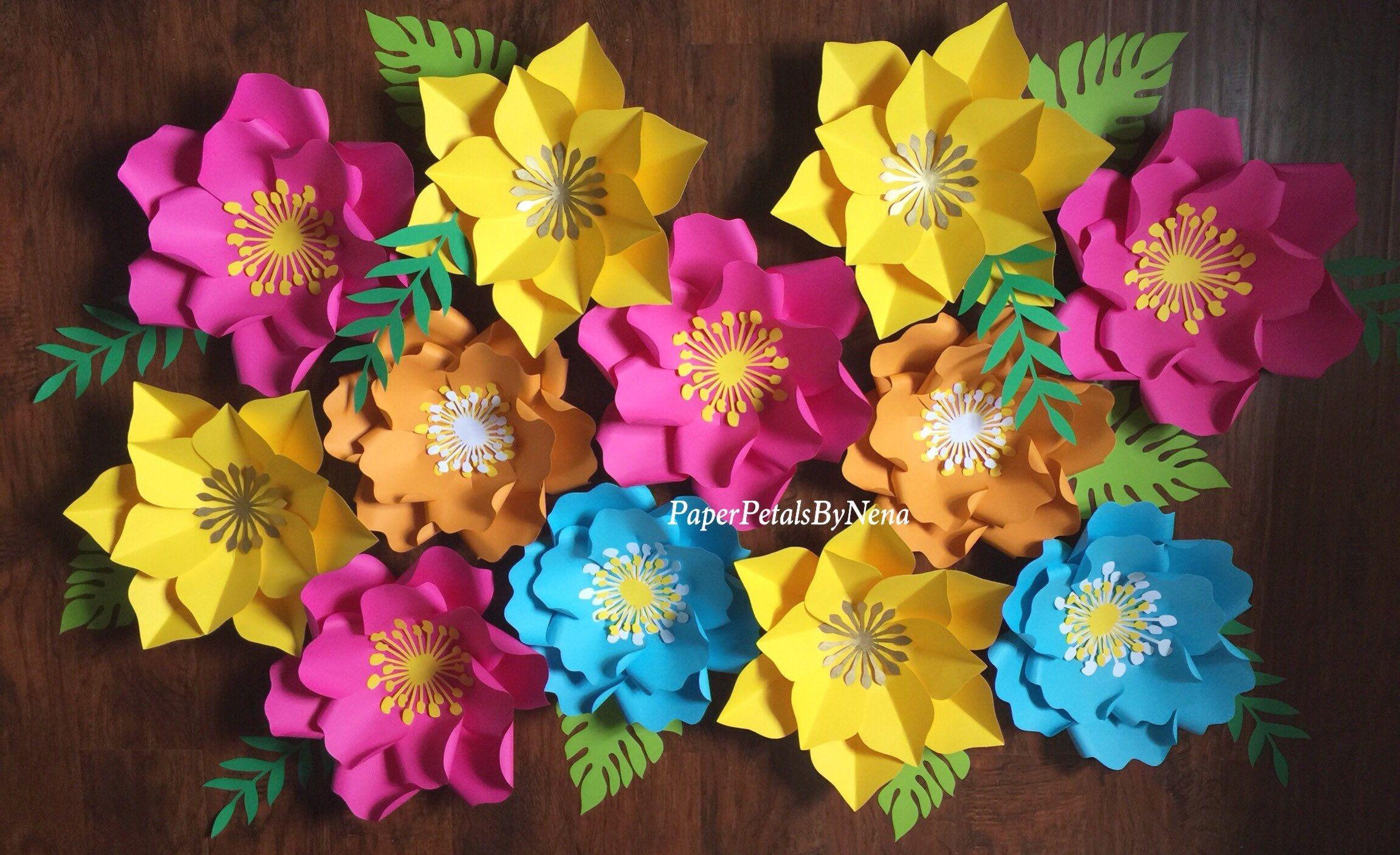 Moana paper flowers moana backdrop moana party decor hawaiian moana paper flowers moana backdrop moana party decor hawaiian birthday party coco izmirmasajfo