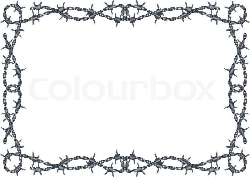 Barbed Wire Frame Vector Vector Colourbox Barbed Wire Art Western Border Clip Art Barbed Wire