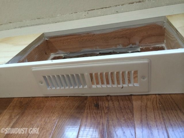 How to install a cabinet base with a floor vent kitchens for Put a floor under