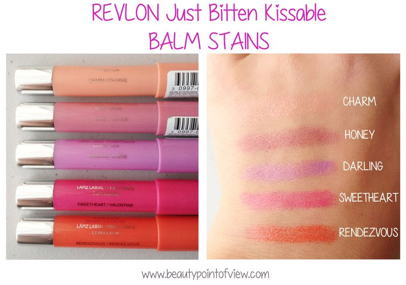 Revlon Just Bitten Kissable Balm Stain Swatches www