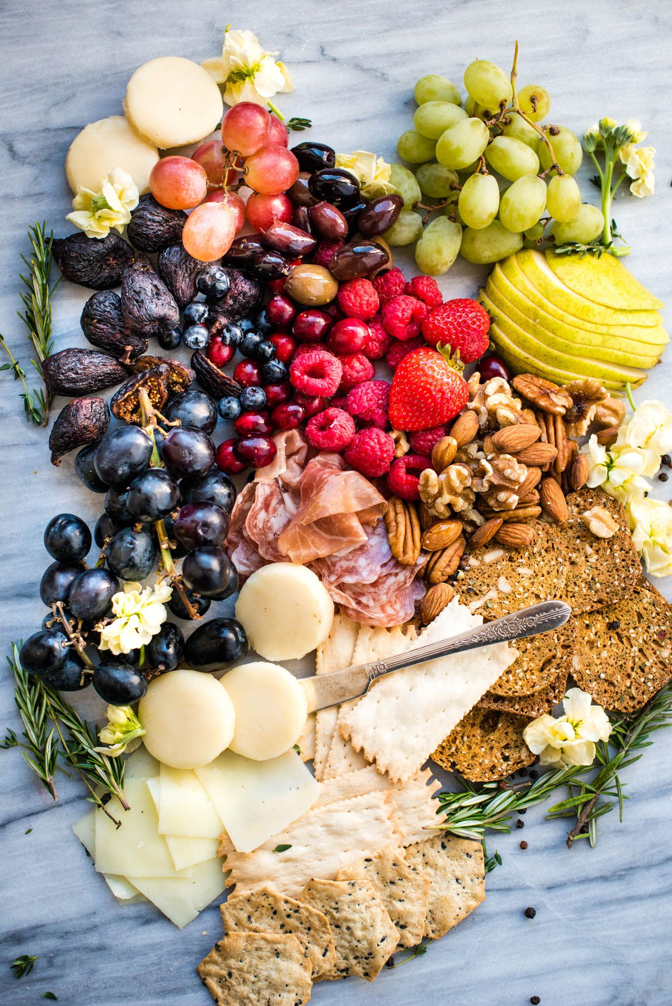 How To Build An Easy Charcuterie Board This Easy Charcuterie Board Is Not Only Pretty Healthy Snacks Recipes Wine Night Appetizers Delicious Appetizer Recipes