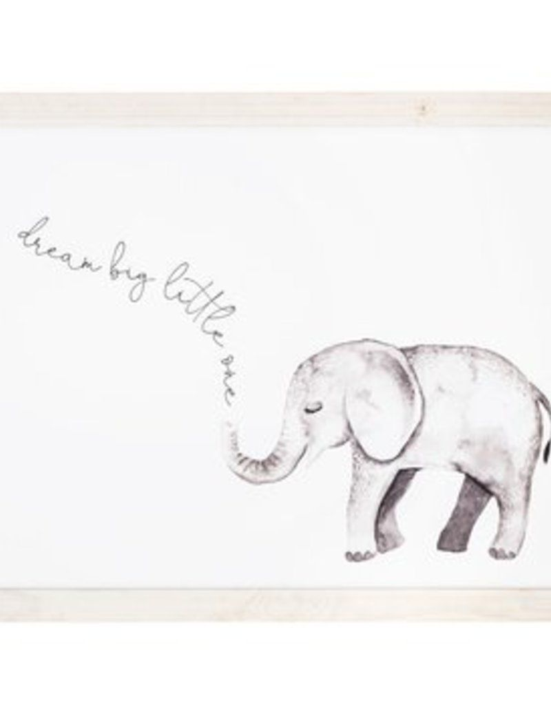 Dream Big Little One Elephant Picture Large Hello Baby Elephant Wall Decor Baby Wall Decor Wood Wall Decor