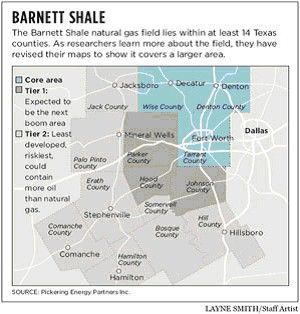 Barnett Shale Map Natural Gas Barnett Shale Texas Texas County Texas Oil Shale
