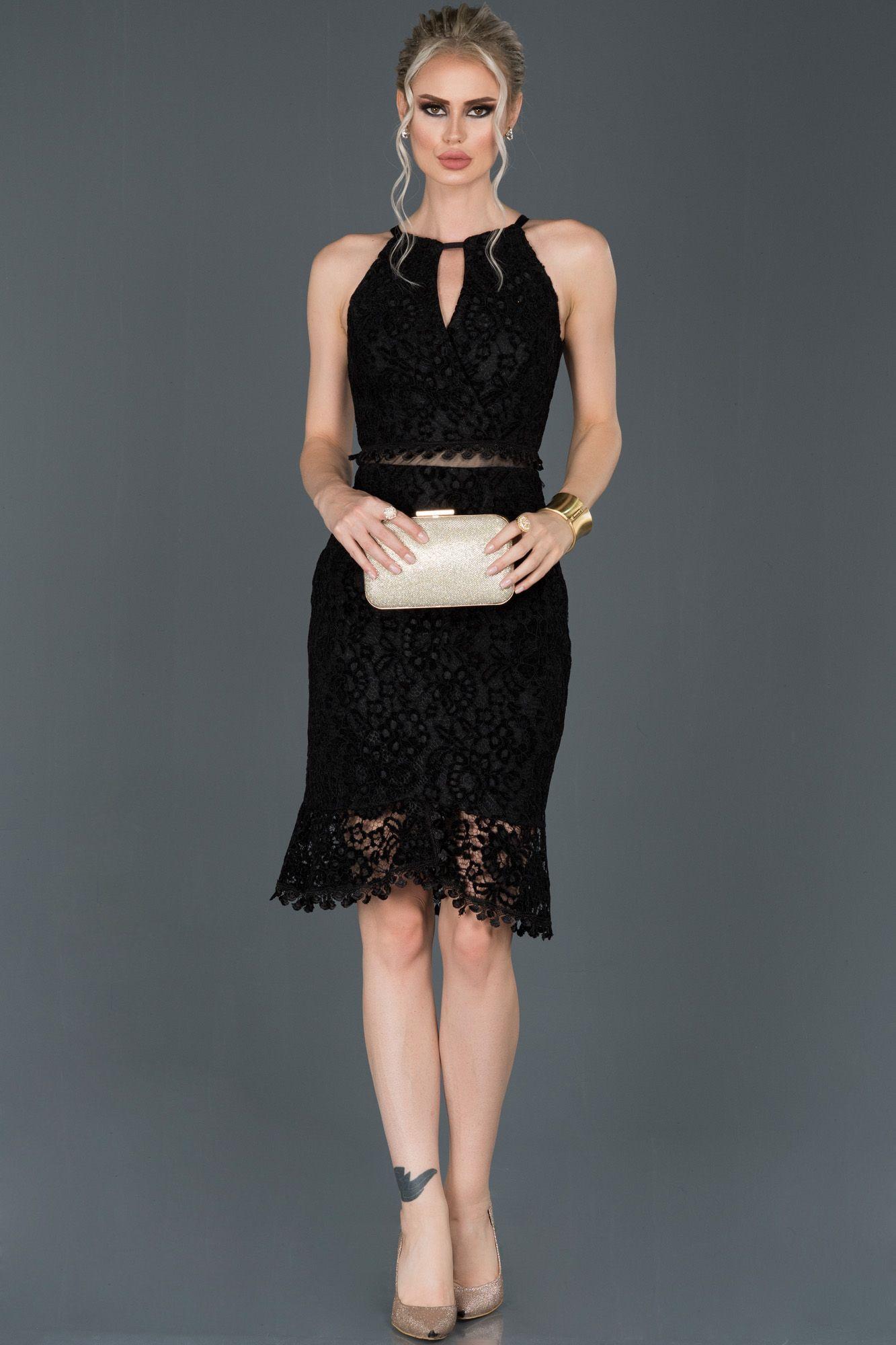 Siyah Kisa Gupurlu Kadife Davet Elbisesi Abk634 2020 Elbise The Dress Elbise Modelleri