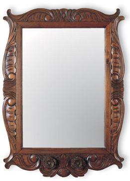 Pin de maria gabriela beascoechea en espejos espejos espejos madera y madera - Marcos espejos antiguos ...