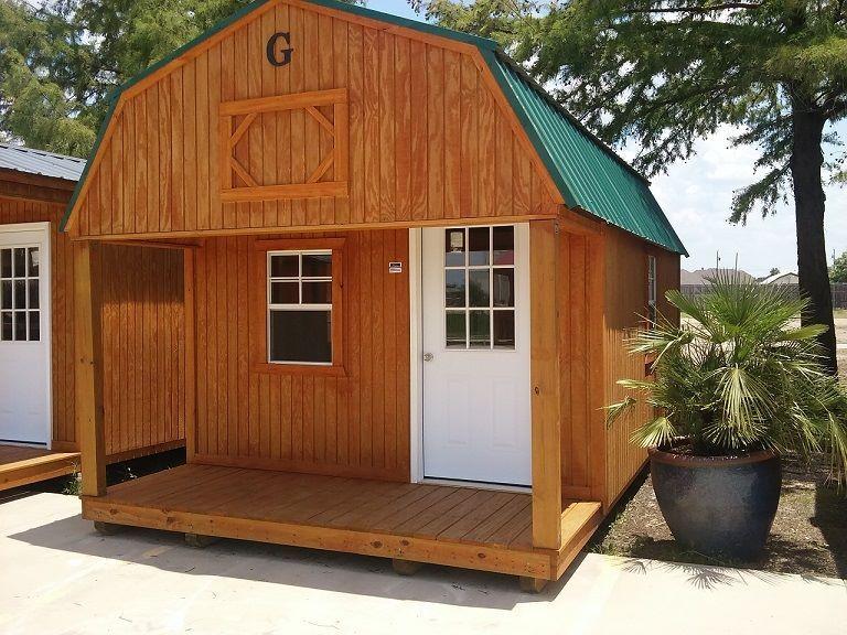 10x20 Lofted Barn Cabin | Graceland Portable Buildings in Wichita in
